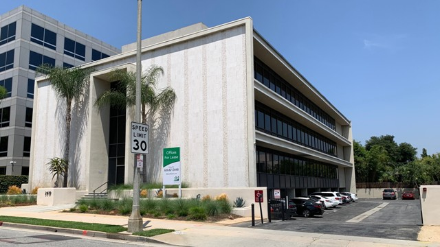 Picture of subject property, Office building in Pasadena
